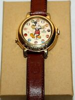 Vintage Disney Lorus Quartz Mickey Around the World Wrist Watch Collectible