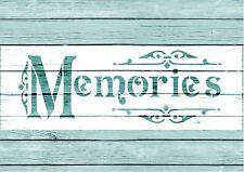 Stencil,MEMORIES , French, Wedding, ShabbyChic,fabric, furniture