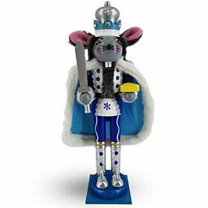 Mouse King Nutcracker in Blue and White