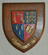 Vintage Hipperholme Grammar School plaque shield coat of arms crest