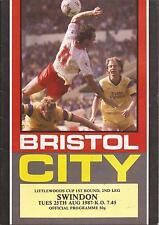 Bristol City v Swindon Town - League Cup - 25/8/1987 - Football Programme
