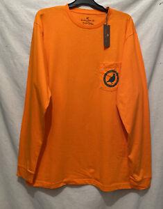 Southern Point Co Men's LS t-shirt XL blaze orange NWT