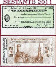BANCA DI TRENTO E BOLZANO LIRE 200 18.2. 1977 UNIONE COMMERCIO TURISMO FDS B154