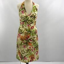 Donna Ricco Women's Size 10 Halter Dress Sheath Mutli Collar Floral Summer Dress