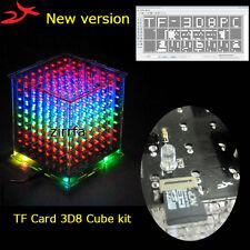 New version 3D 8x8x8 mini Multicolor light cube for TF led electronic diy kit
