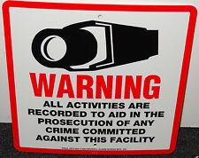 1 CCTV SECURITY WARNING CAMERA SIGN INDOOR OUTDOOR WATERPROOF HOME OR OFFICE NEW