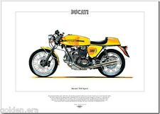 DUCATI 750 SPORT - Moto IMPRIMÉ BEAUX-ARTS - V-TWIN GRAND TOURER moto photo