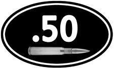 "50 Cal Ammo Can ** 2 PACK ** 5""x3"" Oval Barrett Rifle Vinyl Sticker D919"