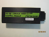 97 98 LINCOLN MARK 8/VIII CONTROL MODULE #F7LF-19K350-AB *see item description*