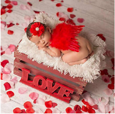 Newborn Baby Angel Wings Headband Costume Photo Photography Props Outfit