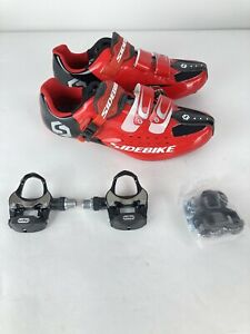 SIDEBIKE Cycling Shoes Men Mountain Road Bike With Pedals Cleats 11 Fits Like 10