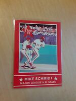 1983 Star Mike Schmidt #8 Major League HR Stats Philadelphia Phillies Baseball C