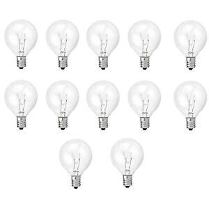 12 Pack Replacement 5 Watt G40 Globe Bulb Incandescent E12 Base