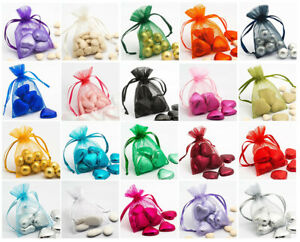 """Pack of 10 3x4"""" or 4x5"""" Organza Pouches/Bags Perfect For Wedding Favours/Gifts"""