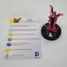 Heroclix Superman / Wonder Woman set Circe #024 Uncommon figure w/card!