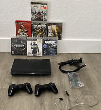 New listing Sony Playstation 3 Ps3 Cech-4001c Super Slim Console Bundle w/ 7 Games Tested.