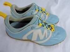 MERRELL STRIKER GOAL Aqua Blue Yellow Leather Lace Up Athletic Shoes WOMENS 5.5