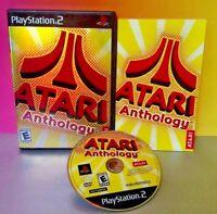 Atari Anthology  - PS2 Playstation 2 COMPLETE CIB Game Rare Tested (67 games)