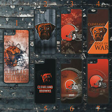 CLEVELAND BROWNS PHONE CASE COVER FITS iPHONE 7 8 X 11 SAMSUNG S8 S9 S10 S20