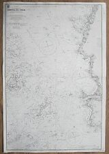 1921 FRANCE CHENAL DU FOUR NORTH WEST COAST VINTAGE ADMIRALTY CHART MAP