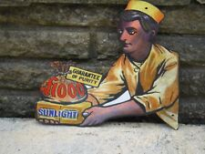 """1970s Reproduction """"SUNLIGHT SOAP""""  STEEL SIGN"""