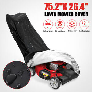 210D Heavy Duty Lawn Mower Cover UV Resistant Rain Waterproof Garden Outdoor