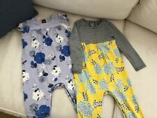 2 Tea Collection Rompers 18-24 months