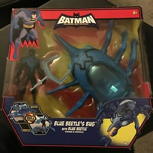 Blue Beetle's Bug with Blue Beetle, figure & vehicle set. Rare!