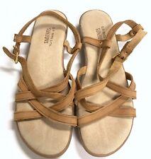 Bass Sunjuns Margie Sandals Leather Strappy Hippie Boho Gypsy Gladiator Sz 9.5 M