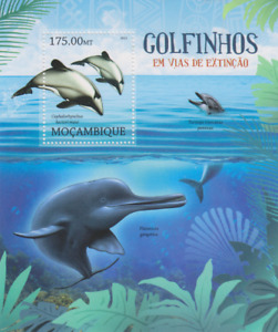 Endangered Wildlife Rare Dolphins Mozambique Mint 3494