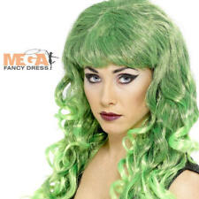 Green Siren Curly Halloween Fancy Dress Costume Wig