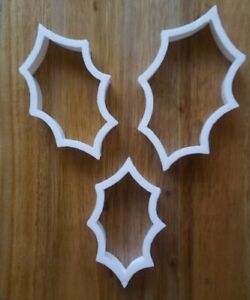 Holly Leaf Christmas Cookie Cutter Biscuit Dough Pastry Fondant Stencil XM23-26