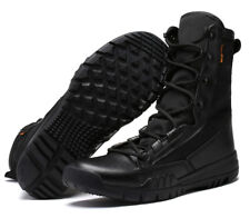 Mens Army Tactical Military Leather High Boots Combat Work desert Shoes Outdoor