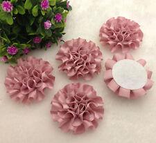 5pcs purple satin ribbon big Peony Flower Appliques/craft/Wedding decoration#