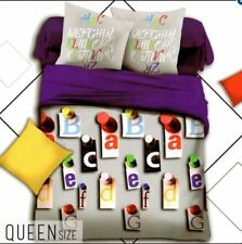 Celebrity Collection Queen Size 3D Bedding Set of 3- Alphabet Design