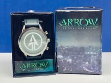 Green Arrow Oliver Queen DC comics watch wristwatch nib box accutime tv series 2