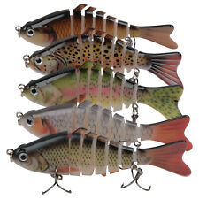 5pcs Multi Jointed Fishing Lures with Hooks Bass Carp Wobbler Swimbait Crankbait