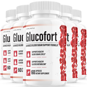 (5 Pack) Glucofort Insulin Natural Diabetic Supplement Support for Blood Sugar