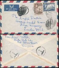 GOLD COAST TAXE CANCELLED UNDERPAID for AIRMAIL...BAWJIASI 1955