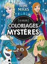 Disney Frozen Adult Colouring Book French Colour By Number Mystery princess