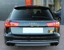 Diffusor passend für Audi A6 C7 4G Avant Heckdiffusor (Doppelendrohr links und r