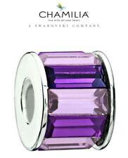 66% OFF Genuine CHAMILIA 925 Silver Purple Swarovski  Baguette Charm RRP £60