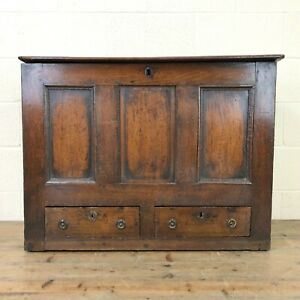18th Century Welsh Oak Mule Chest (M-2530) - FREE DELIVERY*