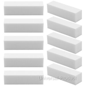 White Acrylic Nail Buffer Buffing Sanding Block Files Salon Art  UK SELLER 