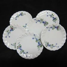 6 Purple Orchid  Round Plate Tray Dollhouse Miniatures Kitchenware 1:6