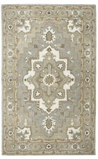 Rizzy Home Suffolk Wool Rectangle Area Rug 3 x 5'Grey Natural Oriental Medallion