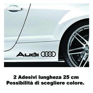 2ADESIVI AUDI QUATTRO fiancata A1 A3 A4 A5 A6 Q3 Q5 Q7 TT S line decal stickers