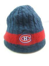 Montreal Candiens NHL Hockey Winter Hat Dark Blue Red Toque Beanie Stocking Cap