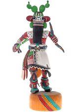 "Vintage Hopi Hand Carved 12.75"" Yung'a CACTUS Kachina Doll Leonard Taho II c90s"