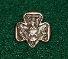 GIRL SCOUT MEMBERSHIP PIN 1917-1924 - TYPE 2D - 3 STARS - MARKED GOLD